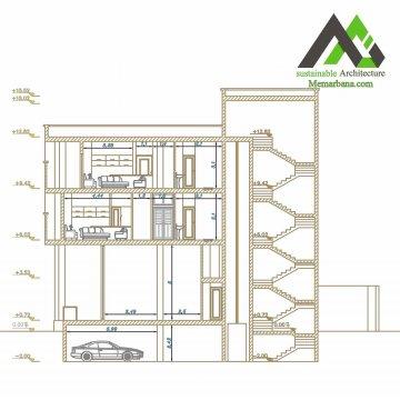 پلان اجرایی آپارتمان با عرض 12