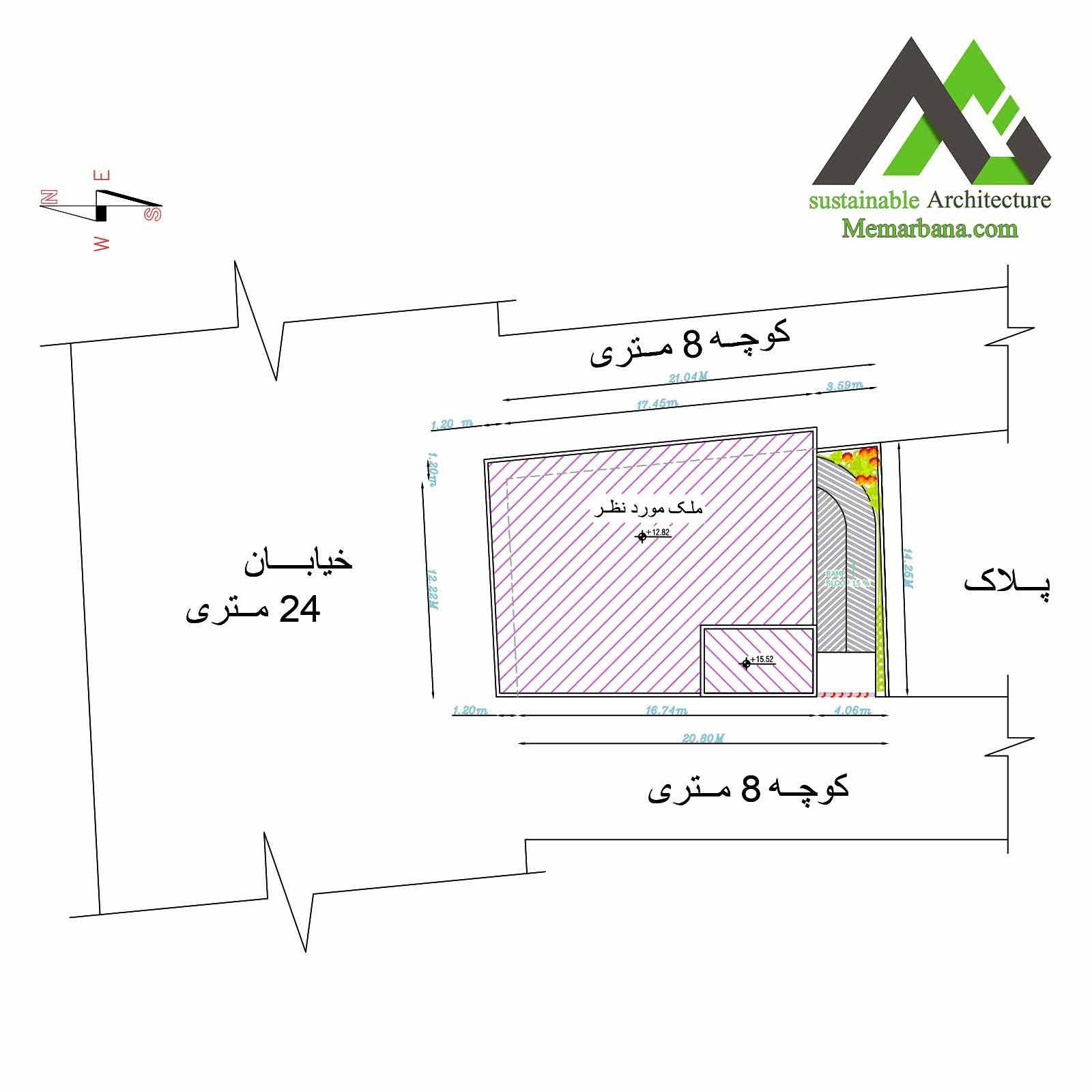 نقشه آپارتمان تجاری مسکونی