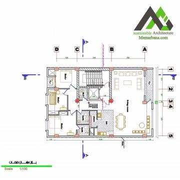 نقشه آپارتمان مسکونی هفت طبقه
