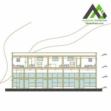 پلان اجرا شده مسکونی تجاری با عرض 5