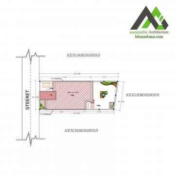 نقشه اجرایی مسکونی عرض 10