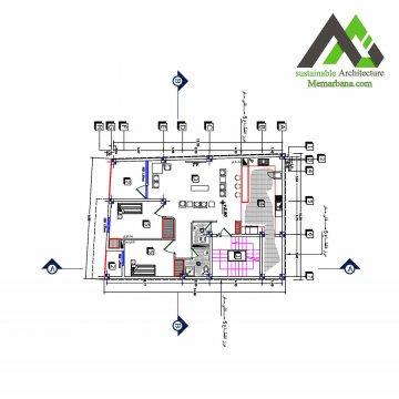 پلان اجرایی مسکونی باعرض 10.30