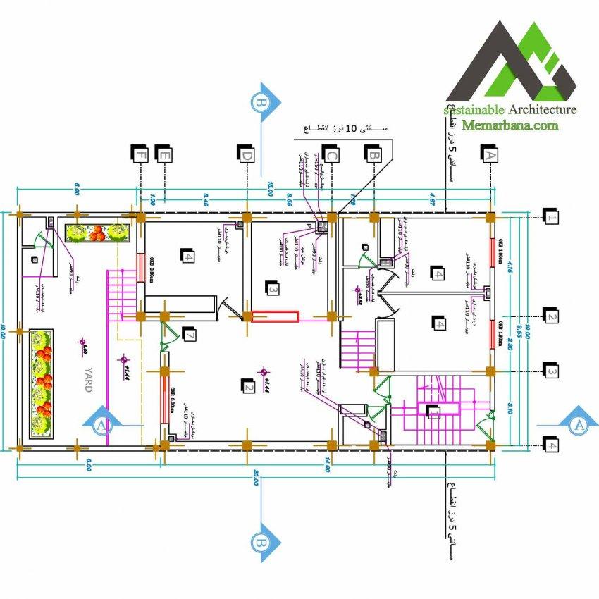 نقشه منزل مسکونی