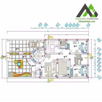 پلان اجرایی مسکونی با عرض11