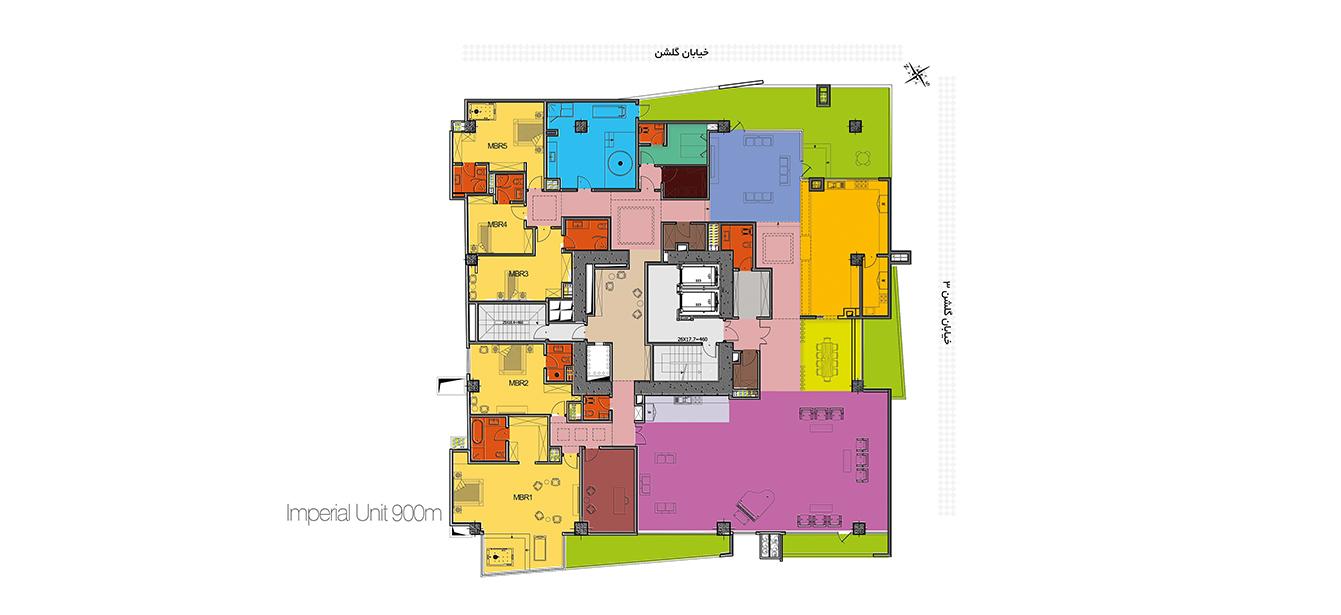 نقشه برج مسکونی باران