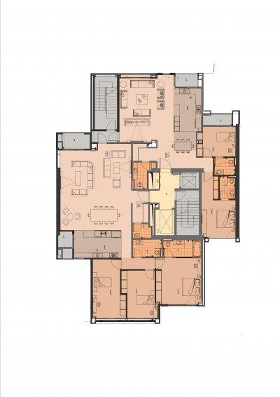 طراحی برج باغ با نمای مدرن