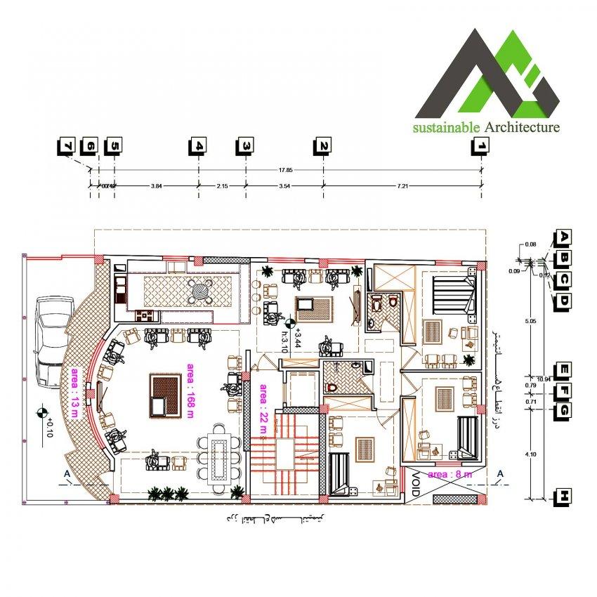 نقشه آپارتمان سه طبقه