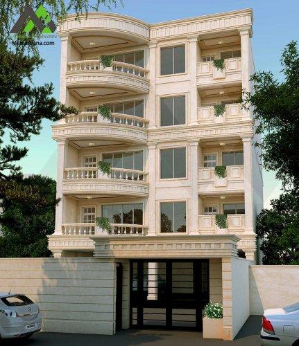 طراحی نما آپارتمان مسکونی آقای آبگون
