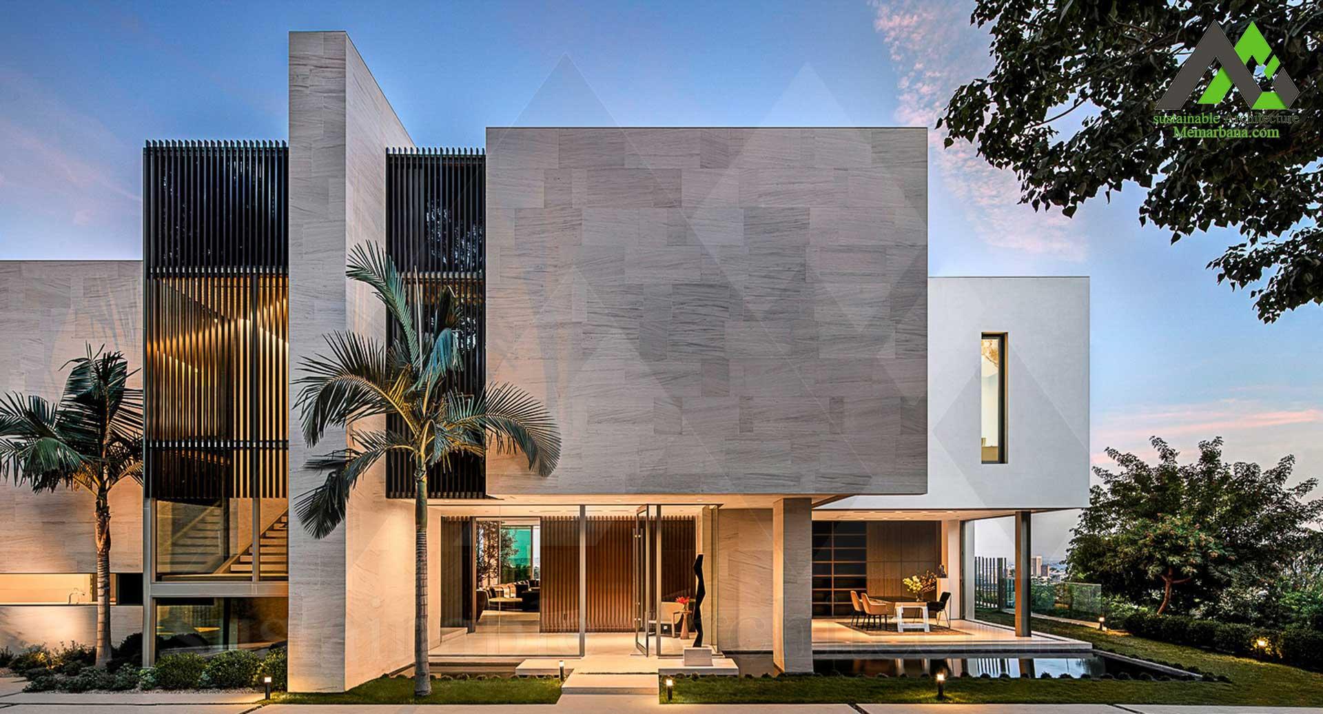 طراحی پلان خانه ویلایی مدرن