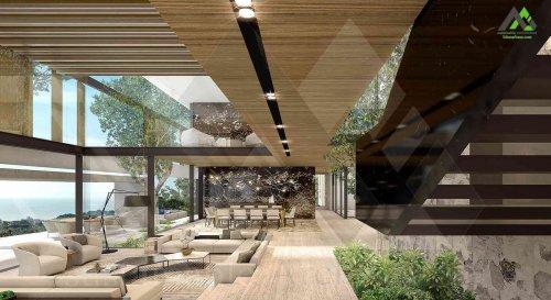 طراحی پلان ویلا تریبلکس لوکس