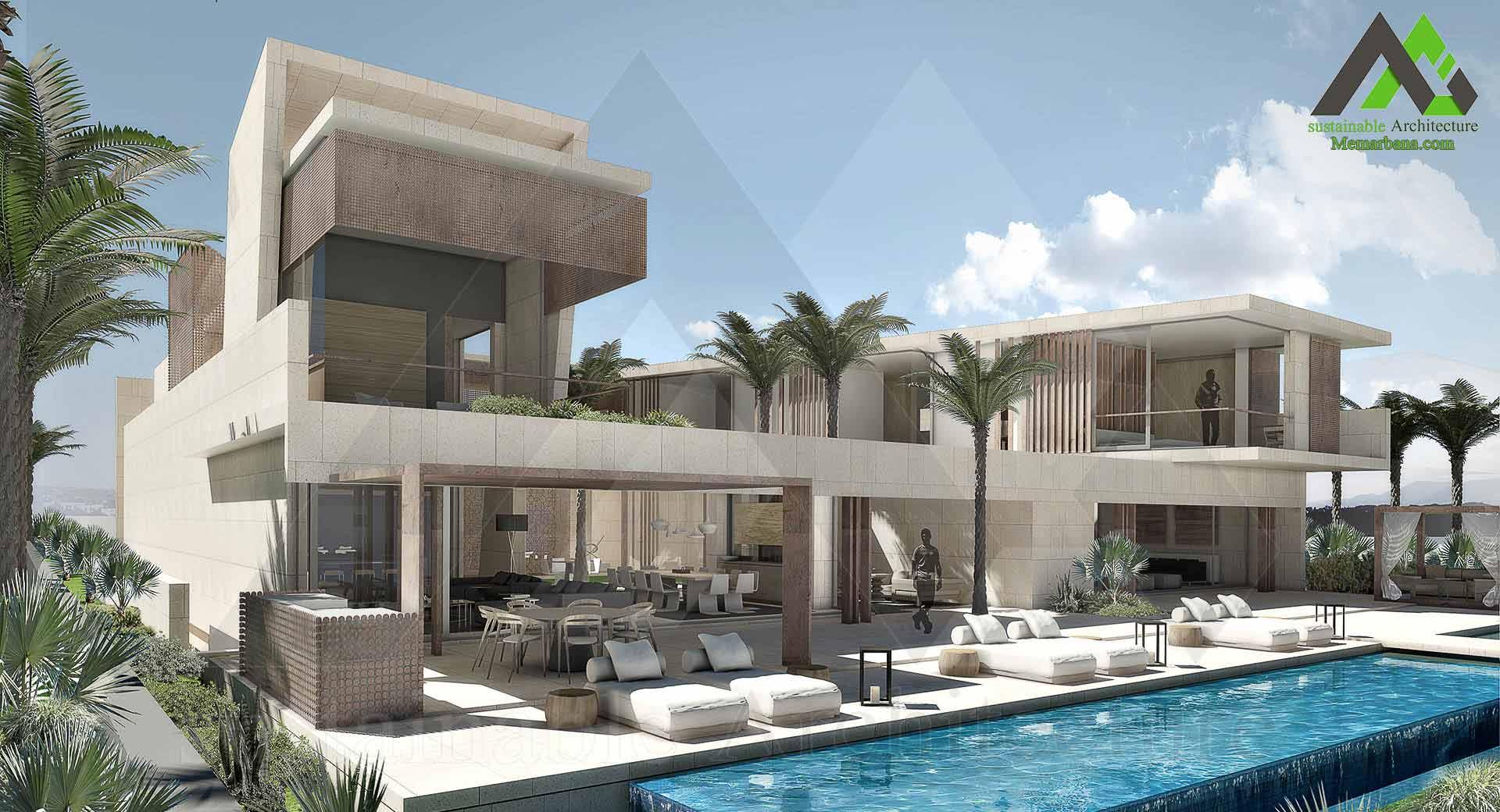 طراحی ویلا دو طبقه لوکس
