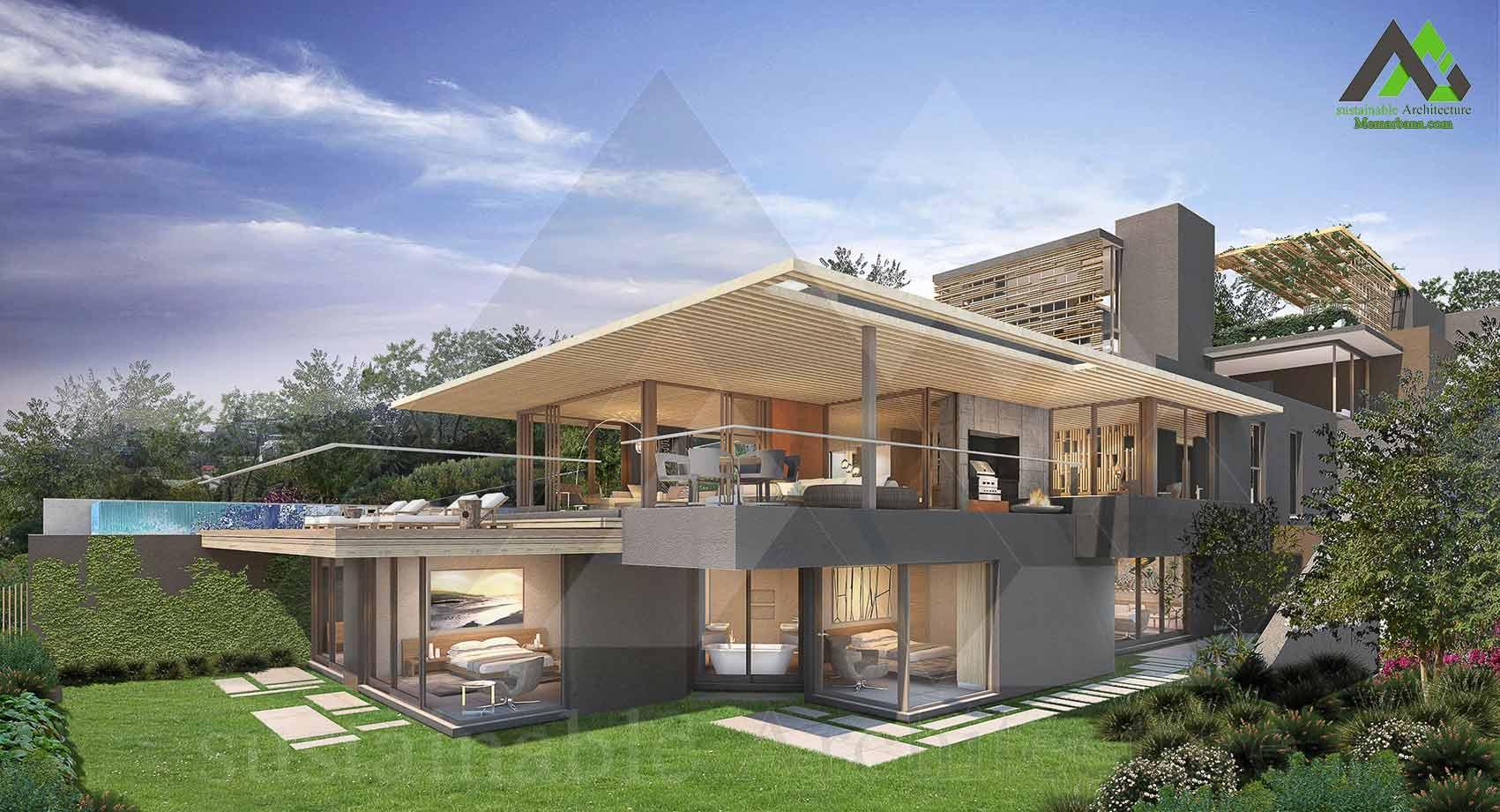 طراحی خانه ویلایی لوکس