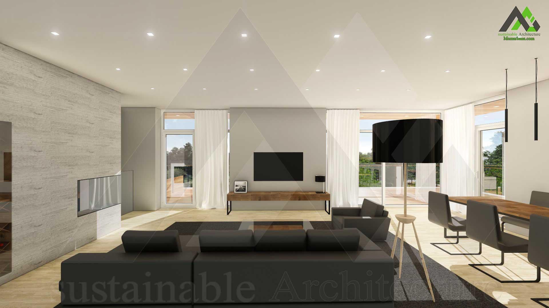 طراحی پلان اجرایی ویلایی دوبلکس مدرن