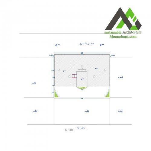 نقشه اجرایی مسکونی با عرض 18
