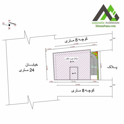 نقشه تجاری مسکونی چهار طبقه