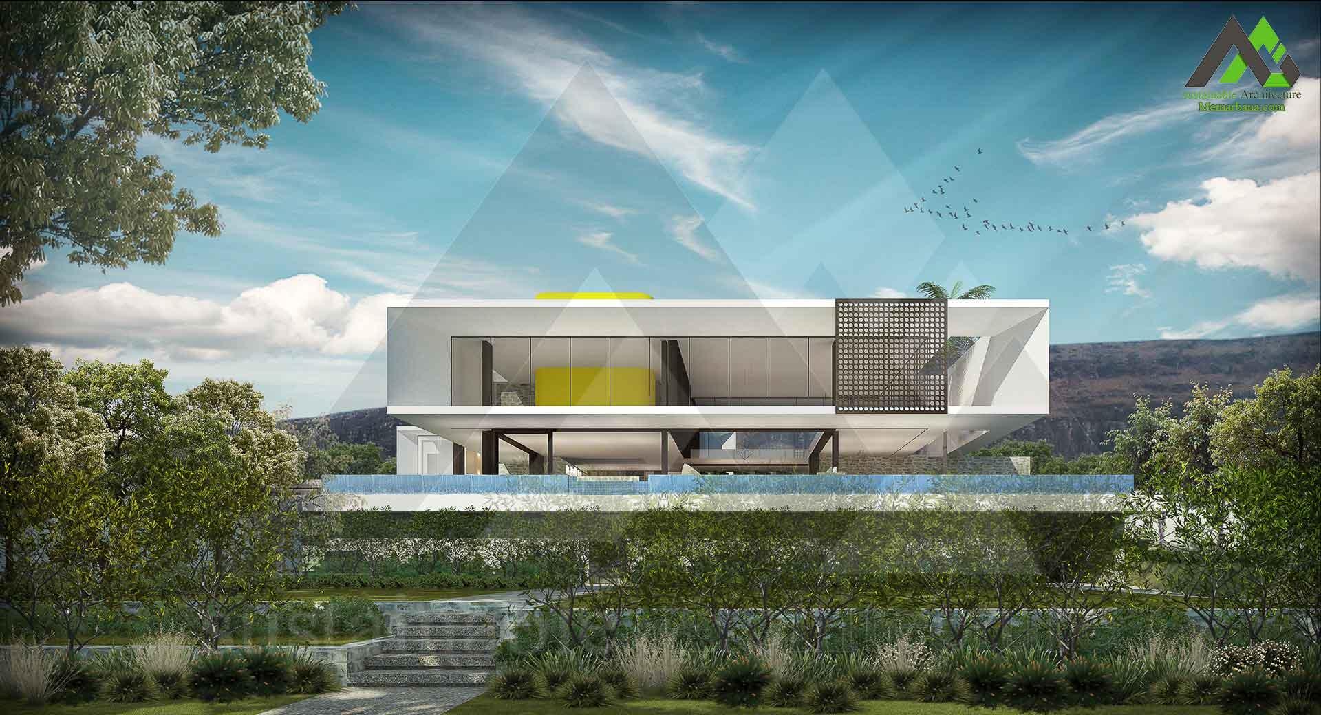طراحی پلان ویلا دو طبقه مدرن