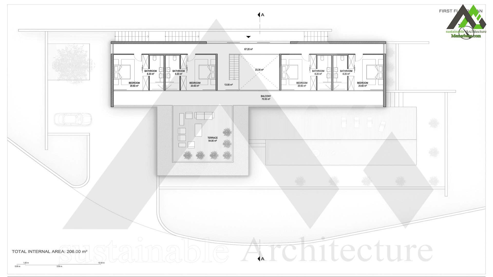 نقشه ویلا دو طبقه