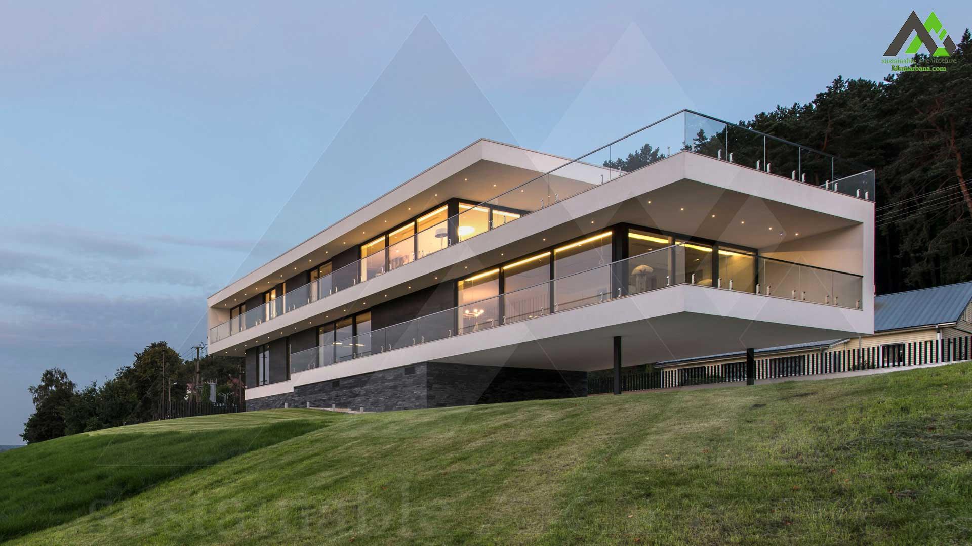 پلان خانه ویلایی اجرایی چهار طبقه