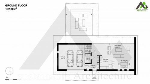 نقشه خانه ویلایی اجراشده دوبلکس