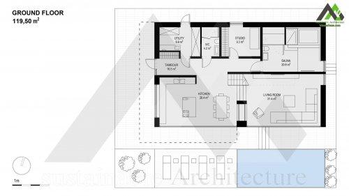 نقشه ویلا اجرایی دو طبقه مدرن