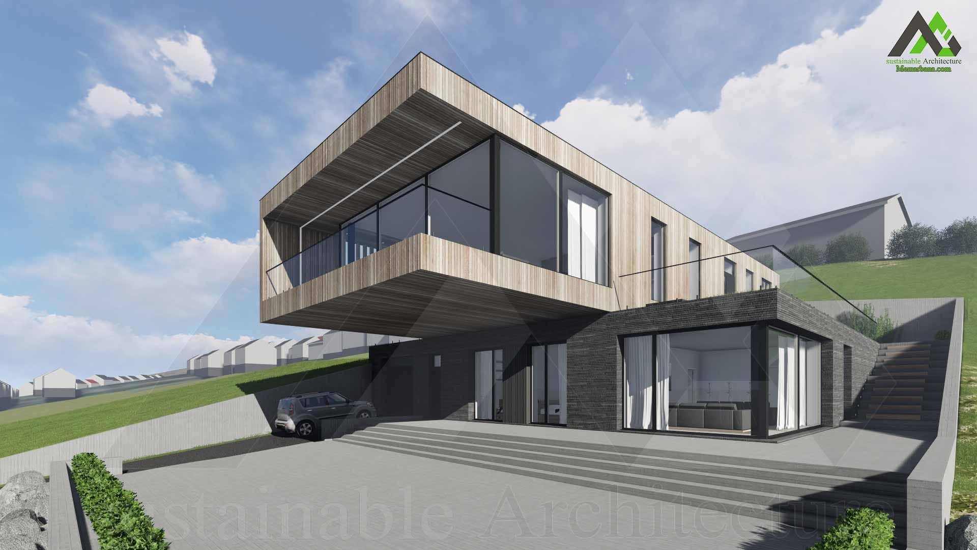 پلان خانه ویلایی اجرایی دو طبقه