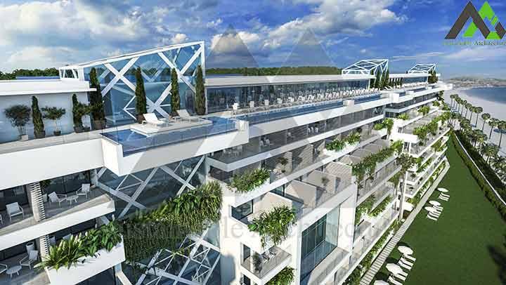 طراحی پلان هتل 8 طبقه