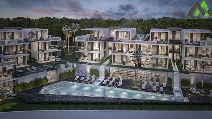 مجموعه خصوصی با 22 آپارتمان