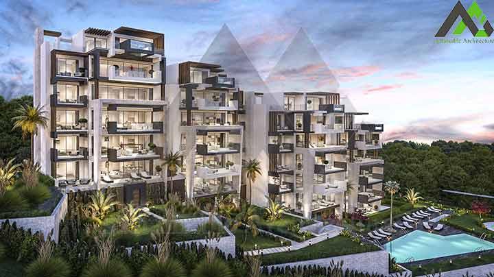 طراحی مجتمع مسکونی 6 طبقه