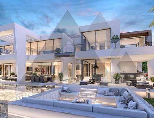 طراحی ویلای لوکس دو طبقه