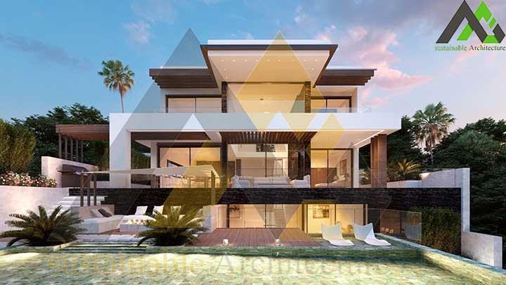 طراحی ویلای جدید 3 طبقه