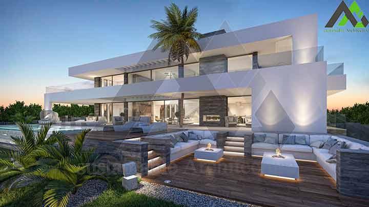 طراحی ویلا 2 طبقه مدرن