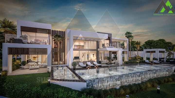 طراحی ویلا مدرن دو طبقه