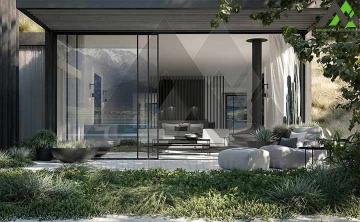 طراحی ویلای مدرن یک طبقه