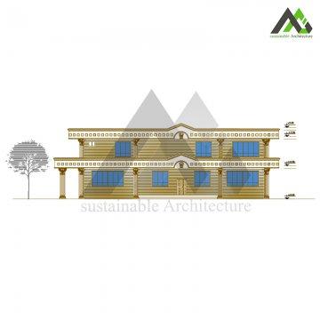 طراحی پلان ویلا سبک عربی