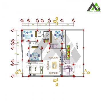 طراحی ویلا سه خوابه دوبلکس