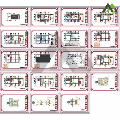 نقشه آپارتمان عرض 11با پارکینگ
