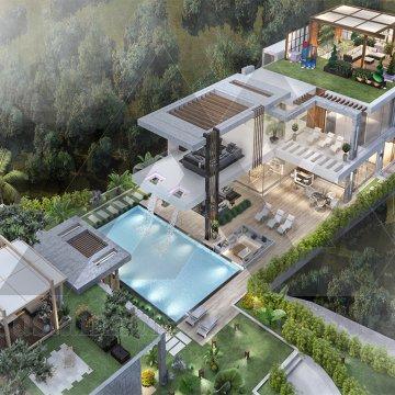 طراحی باغ ویلا لوکس سبک مدرن