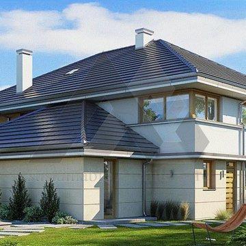 ویلا مدرن با سقف شیروانی
