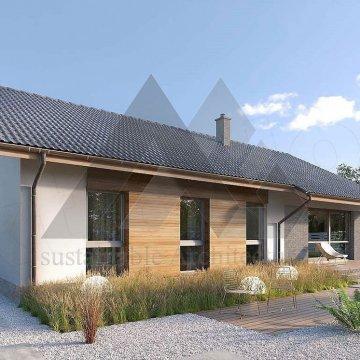 ویلای سه خوابه با سقف شیروانی