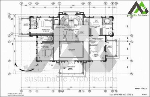 طراحی پلان ویلا کلاسیک