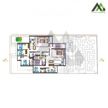 طراحی پلان آپارتمان مسکونی مدرن