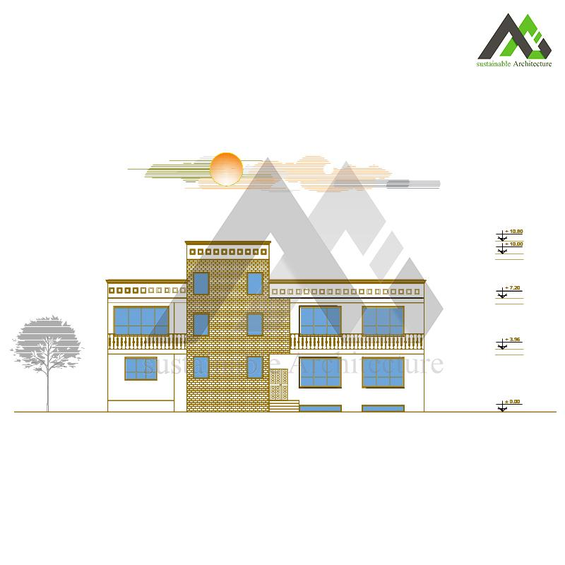 طراحی پلان ساختمان مسکونی دو طبقه