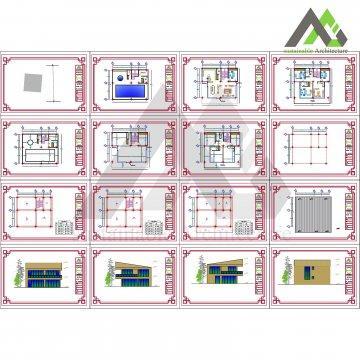 طراحی پلان باغ ویلا مدرن