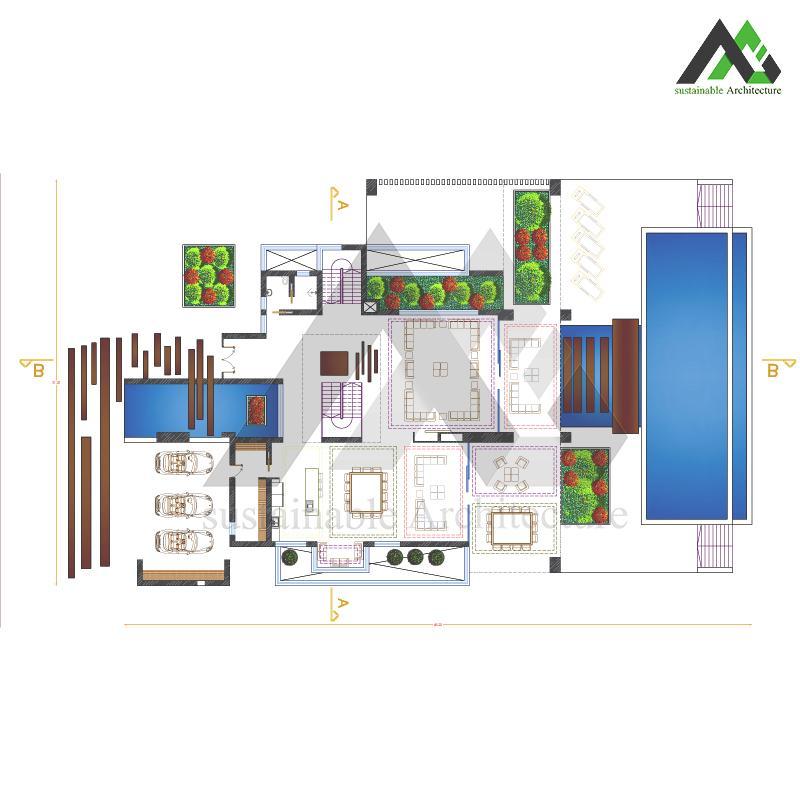 ویلا سه طبقه با طراحی مدرن